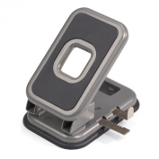 Officemate Auto-Centering 2 Hole Punch, 40 Sheet Capacity, Silver and Charcoal