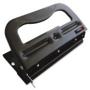 Skilcraft Comfort Grip 3hp Heavy-duty Paper Punch - 3 Punch Head[s] - 32 Sheet Capacity - 9/32 - Black Metallic