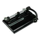 Master Adjustable 40-Sheet 3-Hole Punches with Power Handle, Black