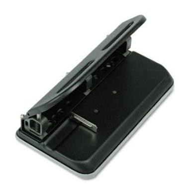 24-Sheet Easy Touch Three- to Seven-Hole Punch, 7.6cm Holes, Black