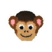 MCG Textiles Huggables Animal Monkey Pillow Latch Hook Kit