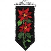 Craftways Winter Poinsettia Latch Hook Kit