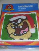 Looney Tunes Taz Christmas Latch Hook Kit