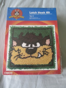 "WB Looney Tunes "" Taz II "" Latch Hook Kit - 33cm x 33cm"