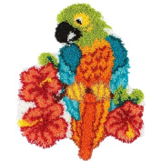 Craftways Tropical Parrot Latch Hook Kit