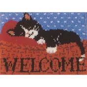 M C G Textiles Latch Hook Kit 50cm x 41cm Cat Nap