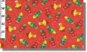Emergency Fire Hydrants Fabrics By Avlyn - 100% Cotton 110cm Wide By the Yard