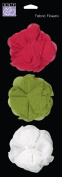 Bazzill Basics 303868 Jaybird Street Fabric Flowers