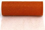 Kel-Toy Glitter Tulle Fabric, 15cm by 10-Yard, Orange