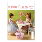 KWIK-SEW PATTERNS K4006OSZ Fabric Tea Set and Basket Sewing Template, One Size Only