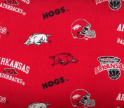 University of Arkansas By Sykel -100% Cotton 110cm Wide By the Yard