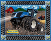 New Holland T9-670 Tractor Large 90cm x 110cm Panel Fabric