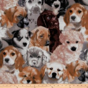 WinterFleece Puppies Fleece Multi Fabric