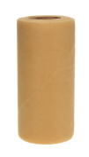 Falk Fabrics Tulle Spool for Decoration, 15cm by 25-Yard, New Gold