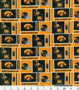 NCAA Cotton Fabric-Iowa Herringbone
