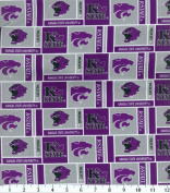 NCAA Cotton Fabric-Kansas State Herringbone
