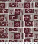 NCAA Cotton Fabric-Texas A & M Herringbone
