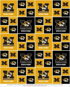 UNIVERSITY OF MISSOURI TIGERS COTTON FABRIC-100% COTTON UNIVERSITY OF MISSOURI TIGERS FABRIC SOLD BY THE YARD-UNIVERSITY OF MISSOURI TIGERS #20 SYKEL