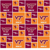 Virginia Tech Hokies Checker Cotton Fabric