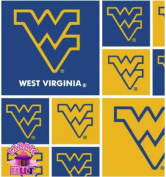 Cotton University of West Virginia Mountaineers College Team Sports Cotton Fabric Print By the Yard