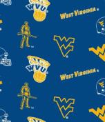West Virginia University Blue Cotton Fabric
