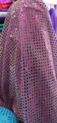SMALL DOT CONFETTI SEQUIN FABRIC 110cm WIDE SOLD BY THE YARD MAGENTA