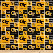 Collegiate Cotton Broadcloth Georgia Tech Gold Fabric