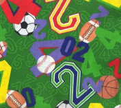 Sports Numbers By General Fabrics-100% Cotton 110cm Wide By the Yard
