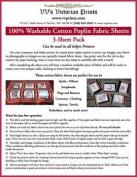 Inkjet Printable Cotton Fabric 3-Sheet Pack