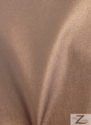 Solid Faux Fake Leather Vinyl Spandex Fabric -Bronze-Sold BTY