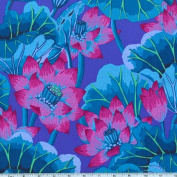 Kaffe Fassett Lake Blossoms Blue Fabric
