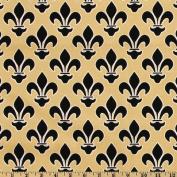 Fleur De Lis Gold/Black Fabric