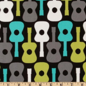 Michael Miller Groovy Guitars Lagoon Fabric