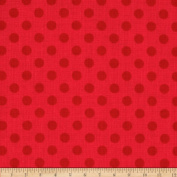 Riley Blake Small Dots Tone on Tone Red Fabric