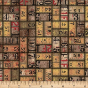 Tim Holtz Eclectic Elements Measurements Neutral Fabric