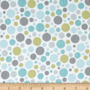 Special Delivery Bubbles White/Sky Fabric