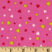 XOXO Mini Hearts Pink Fabric