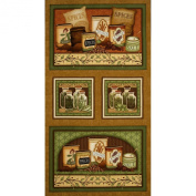 Just A Pinch Herbs & Spices Panel Patches Brown Fabric