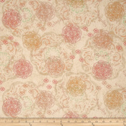 Namaste Toss Mandala Oatmeal Fabric