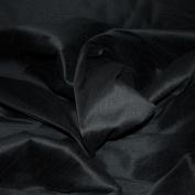 FAUX SILK DUPIONI FABRIC POLY DUPION BLACK