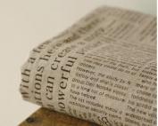 Cotton Linen Fabric Cloth DIY Cloth Art Manual Cloth Newspaper English