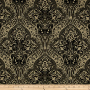 Downton Abbey Dowager Countess Large Medallions Black Fabric