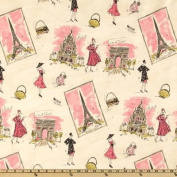 Waverly Tres Chic Black/Pink Fabric