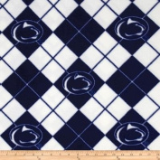 150cm Wide Collegiate Fleece Penn State University Argyle Fabric By The Yard
