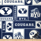 Collegiate Fleece Brigham Young University Blue Fabric