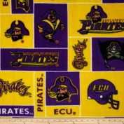 Collegiate Fleece East Carolina University Purple Fabric