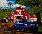 Ford F-150 Farm Scene Panel Brown Fabric