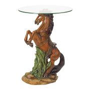 Horse Glass Top Table
