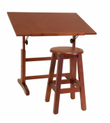 Studio Designs 13257 Creative Table and Stool Set, Walnut