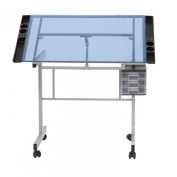 Studio Designs 10063 Vision Craft Station, Silver/Blue Glass